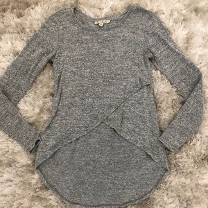Express One Eleven High Low Wrap Sweater